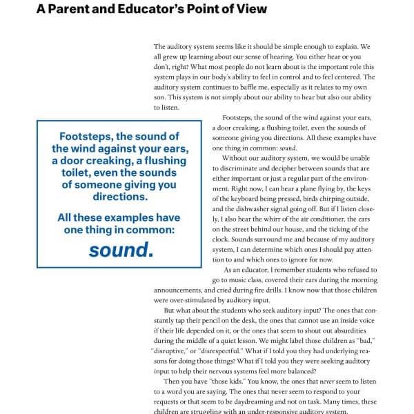 Sensory Processing Explained by a Parent