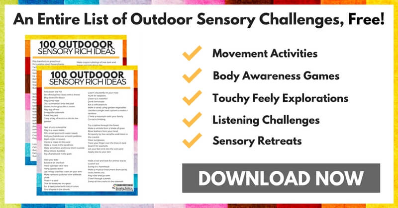 Entire List of Outdoor Sensory Challenges Free